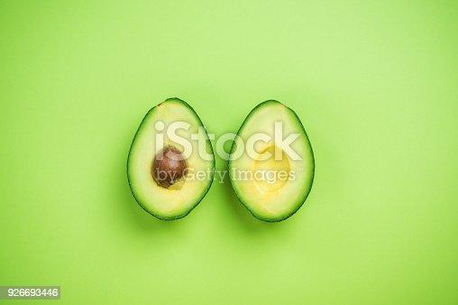 istock Avocados halves creative food concept 926693446