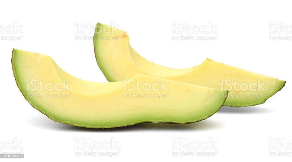 Avocados isolated on a white background stock photo