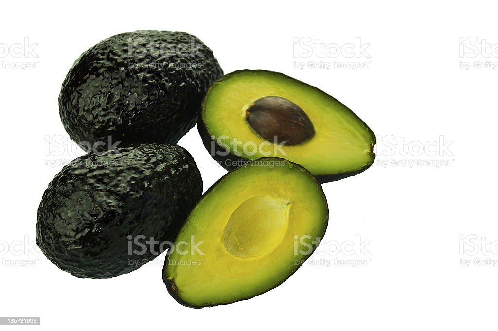 Avocados Isolated stock photo