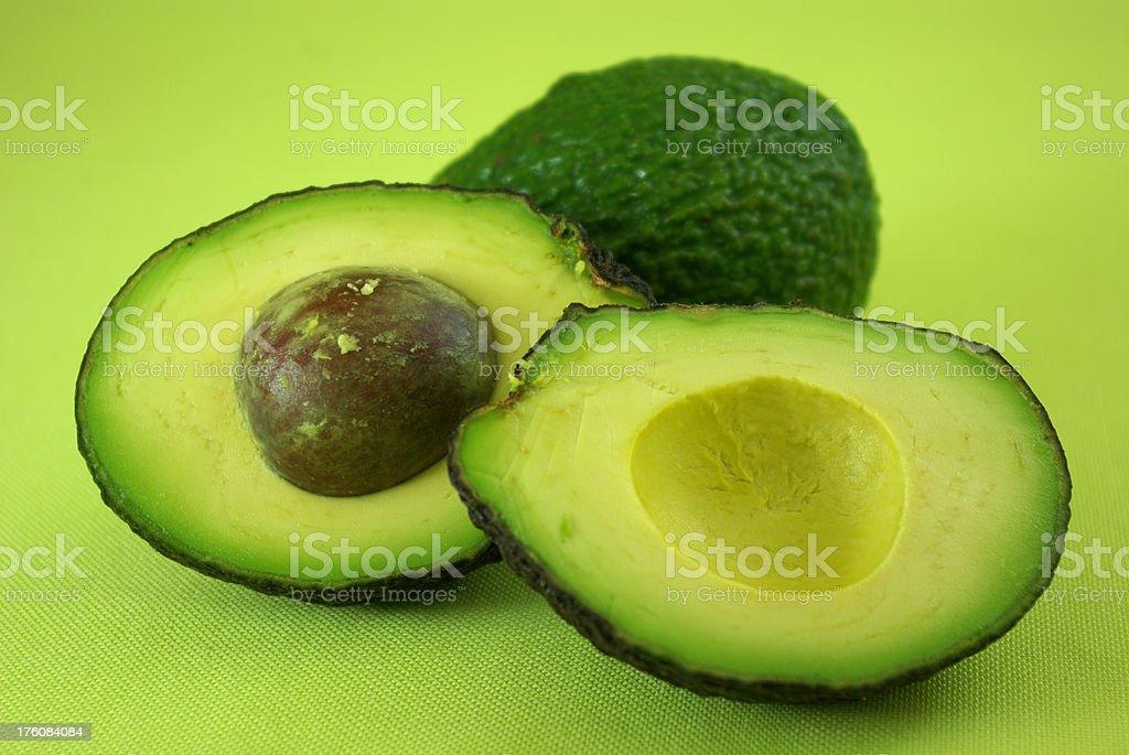 Avocados ripe and unripe stock photo
