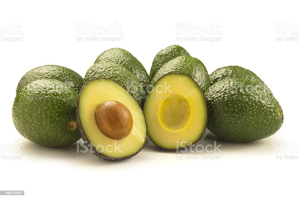 Avocados with Path royalty-free stock photo