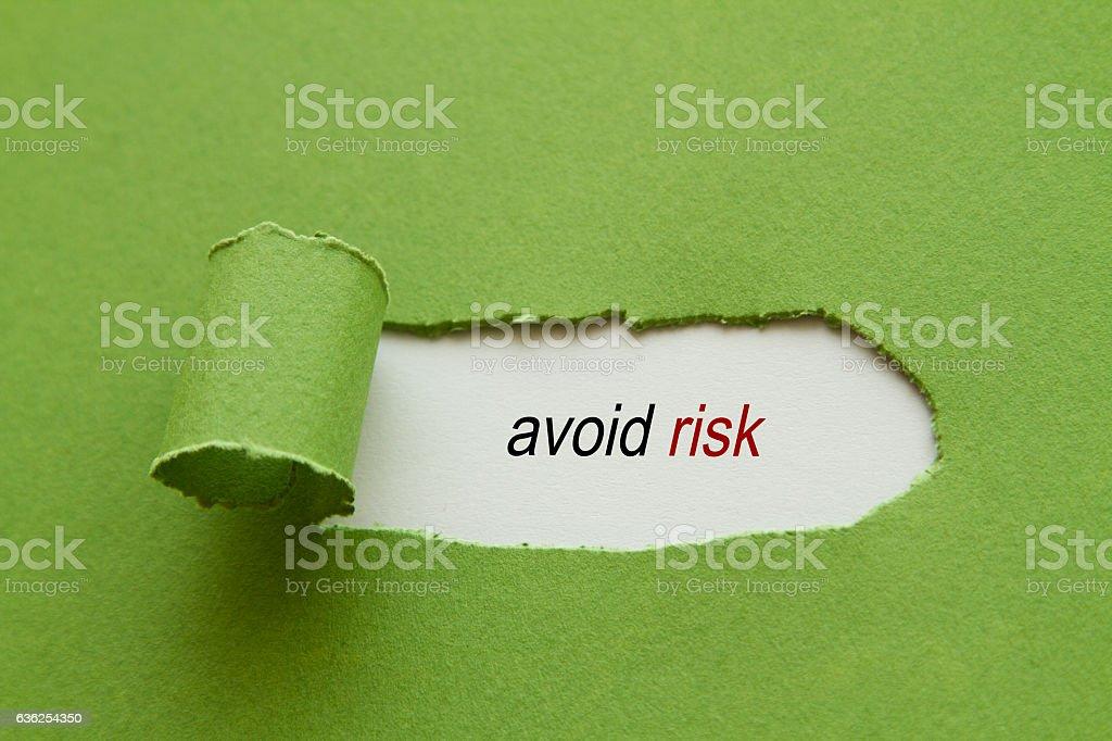 Avoid risk stock photo