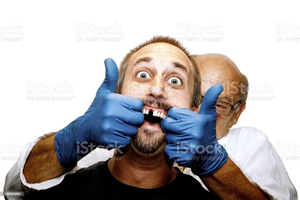 Avoid This Dentist at All Cost! royalty-free stock photo