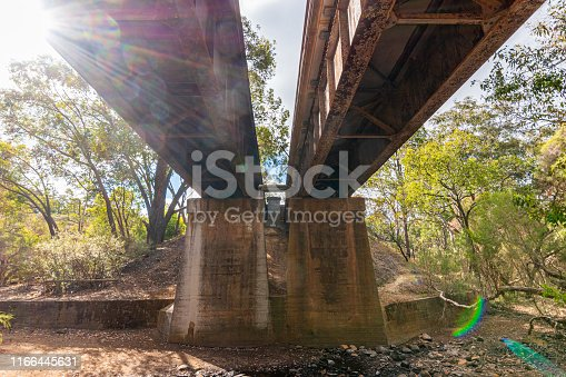 Avon Valley National Park old railroad bridges in West Australia