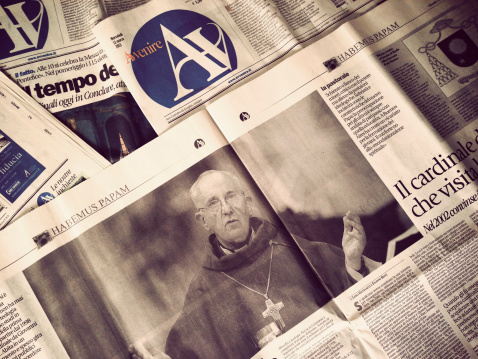 Avvenire newspaper the day after new Pope Election