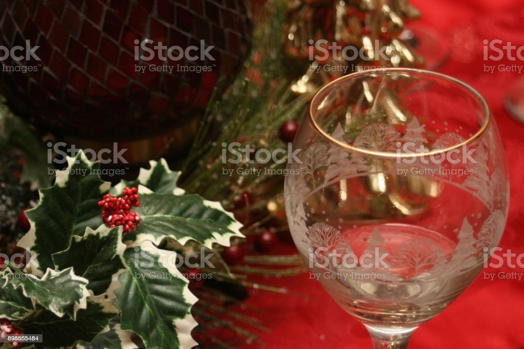 Awaiting Christmas Guests stock photo