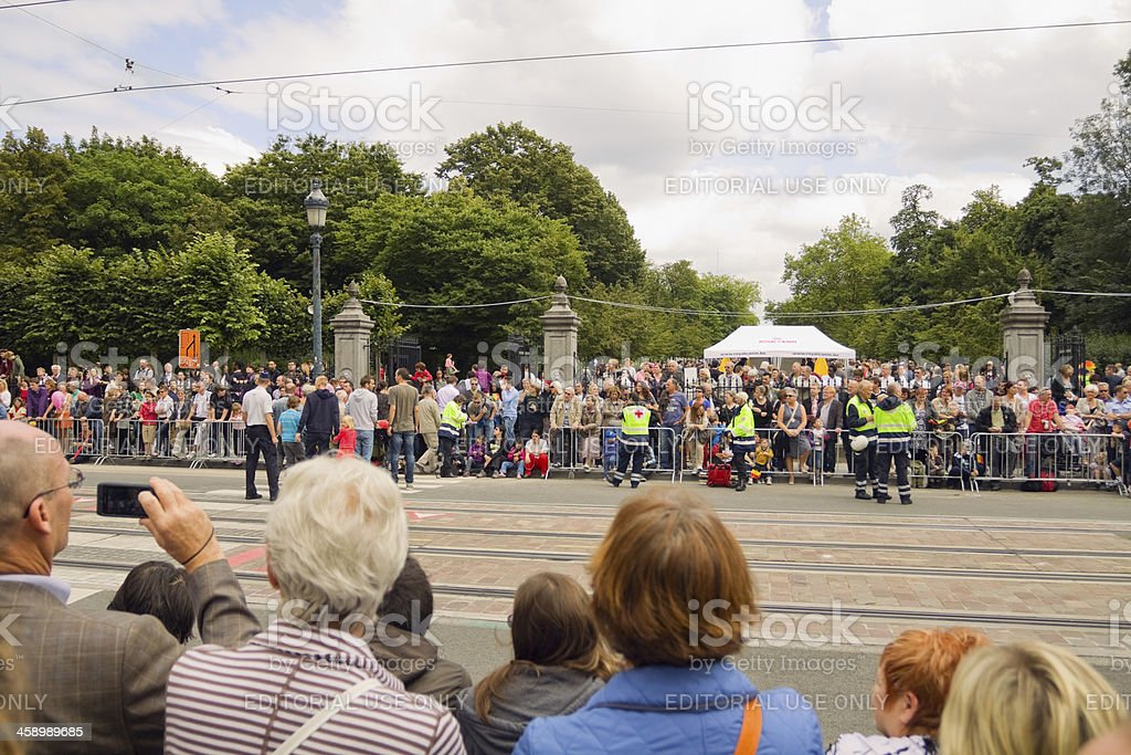 Awaiting parade royalty-free stock photo