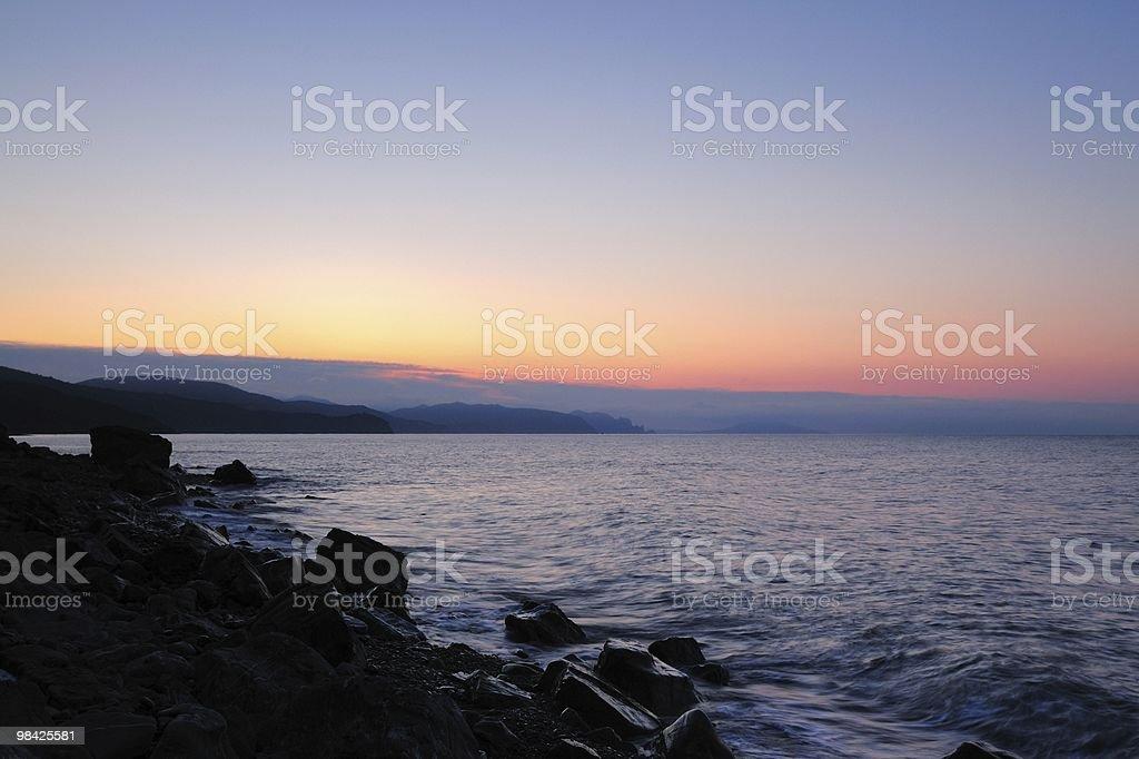 Awakening at sea royalty-free stock photo