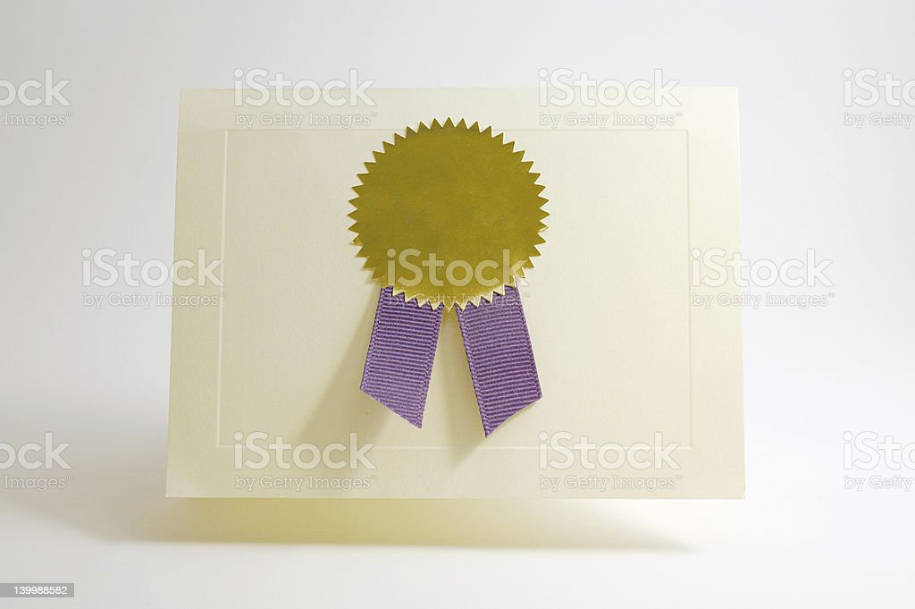 Award card royalty-free stock photo