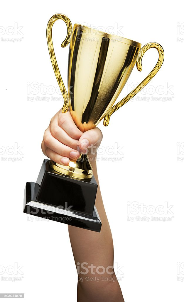 Award Cup Isolated on White stock photo