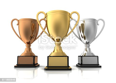 544347868 istock photo award cups concept   3d illustration 611865846