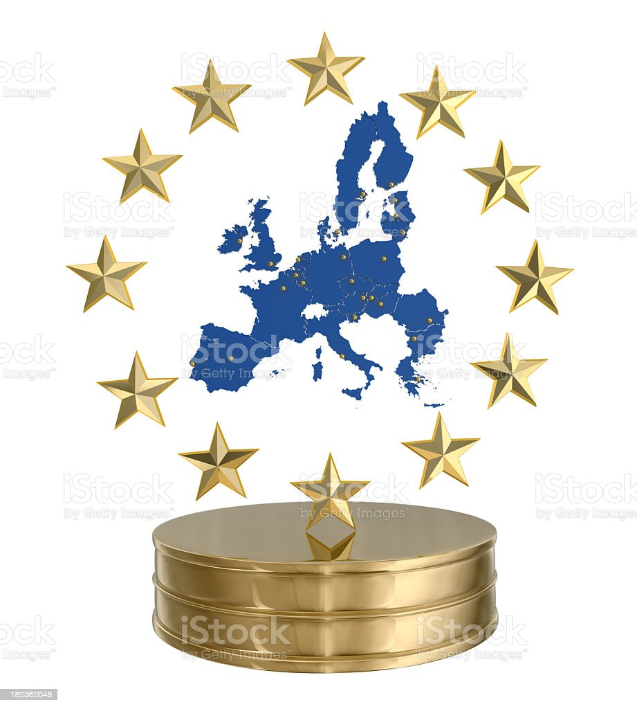 Award - European Union royalty-free stock photo