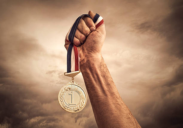 award of victory - medal stock photos and pictures