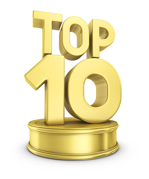 top 10 award - number 10 stock photos and pictures