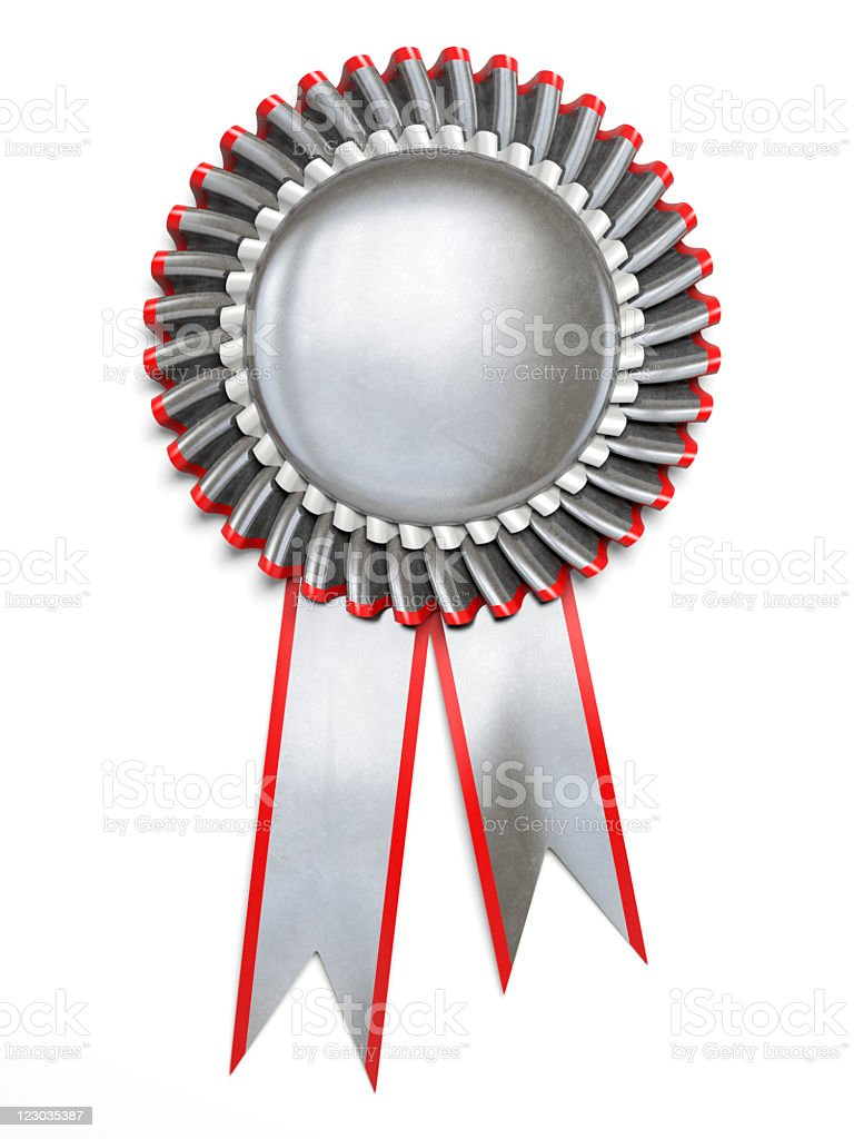 Award rosette royalty-free stock photo