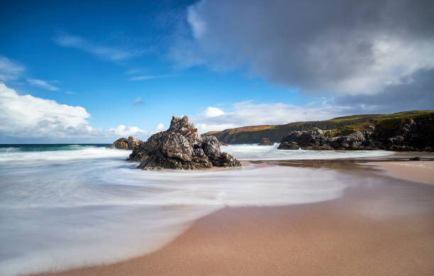 Award winning beach Sango Bay, Scotland, Durness stock photo