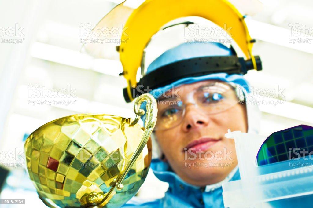 Award Winning Female Scientist royalty-free stock photo