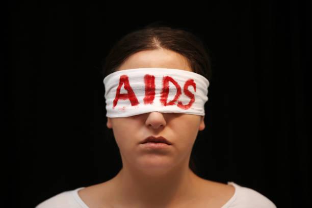 AIDS awareness concept stock photo