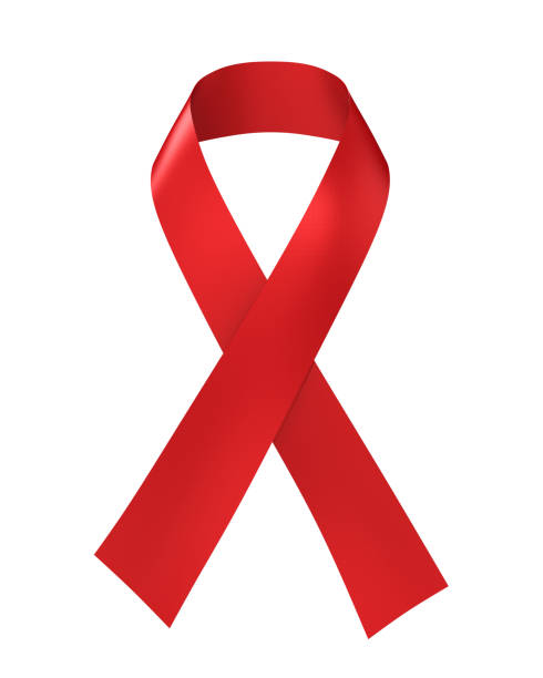 AIDS Awareness Red Ribbon Isolated stock photo