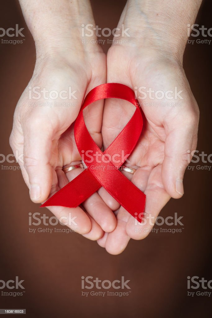 AIDS awareness ribbon royalty-free stock photo