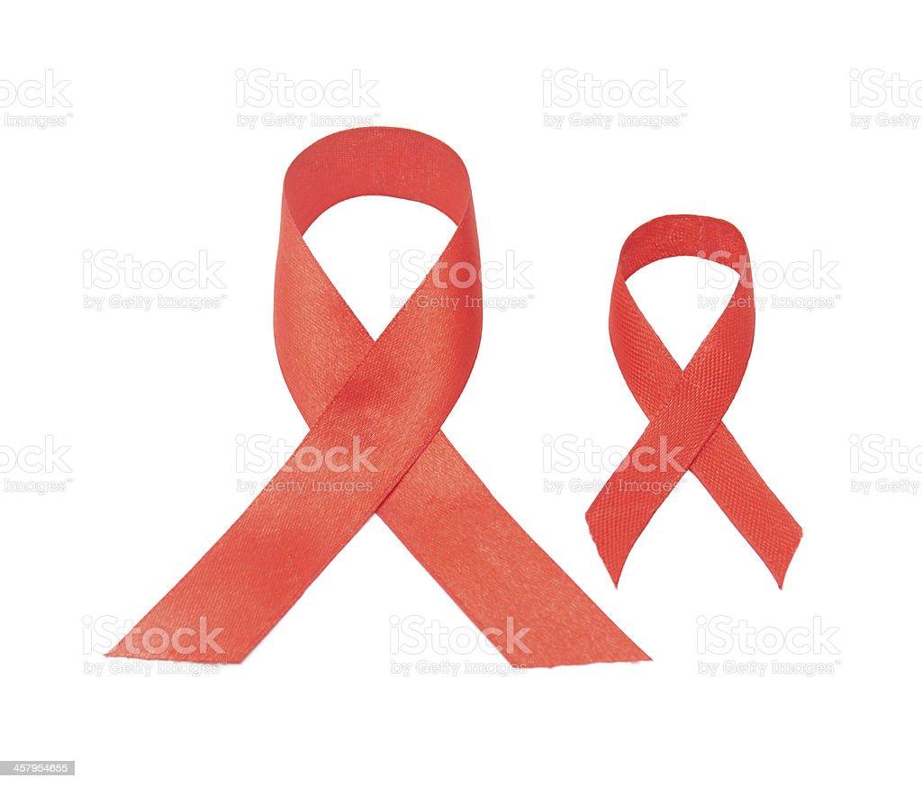 AIDS awareness ribbon royalty-free stock photo