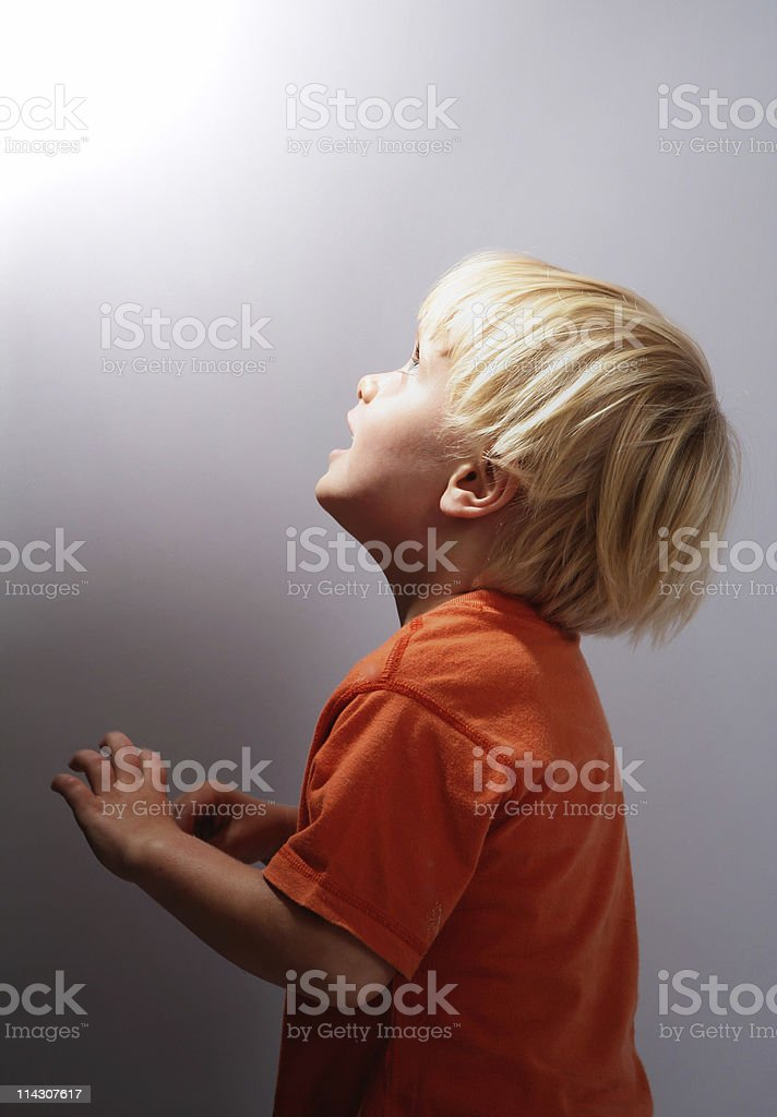 Awe of a child royalty-free stock photo