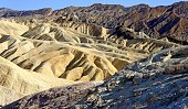 Badlands of Death Valley National Park from Zabriskie Point USA