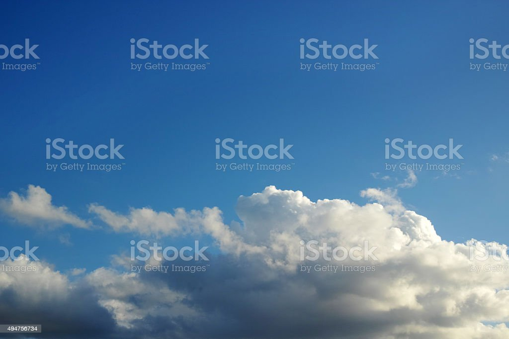 Awesome Blue Sky And Cloud View stock photo