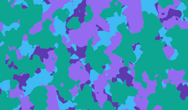 super tarnung hintergrund - lavendel grün blau lila - rosa tarnfarbe stock-fotos und bilder