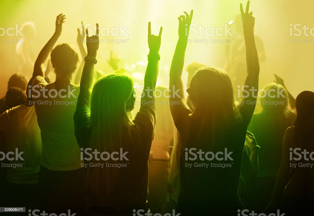 Awesome concert! stock photo