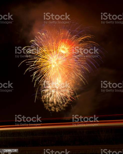 Photo of Awesome Fireworks over Highway