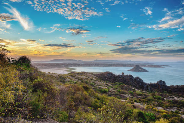 awesome landscape of Antsiranana Bay, Madagascar stock photo