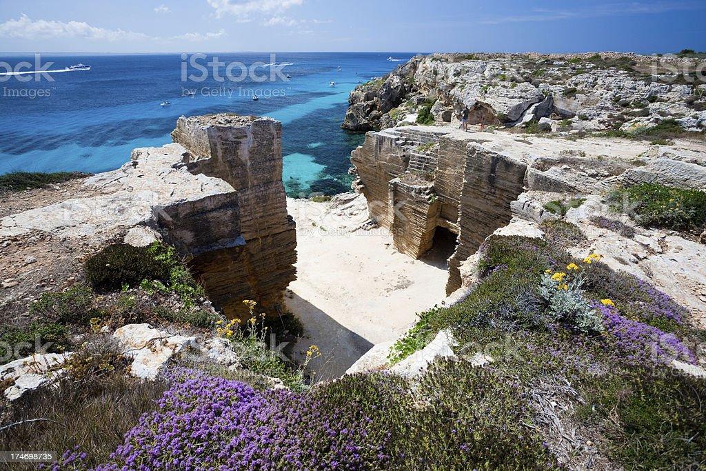 Awesome mediterranean paradise royalty-free stock photo