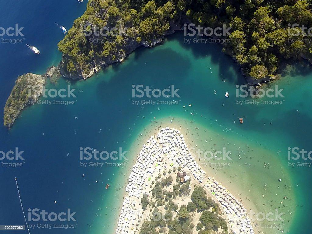 Awesome Oludeniz Fethiye View From Parachute stock photo