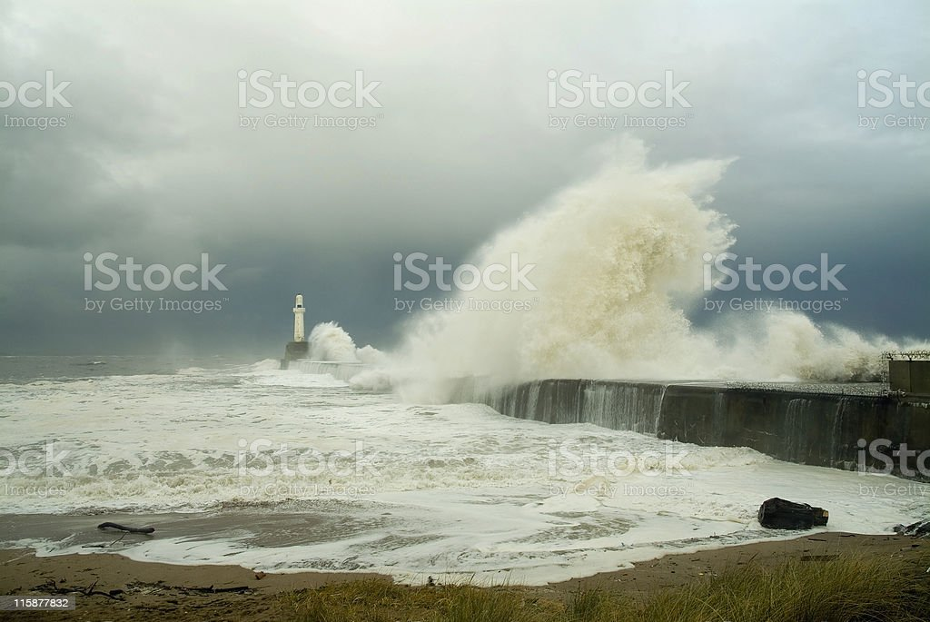 Awesome power of the sea royalty-free stock photo