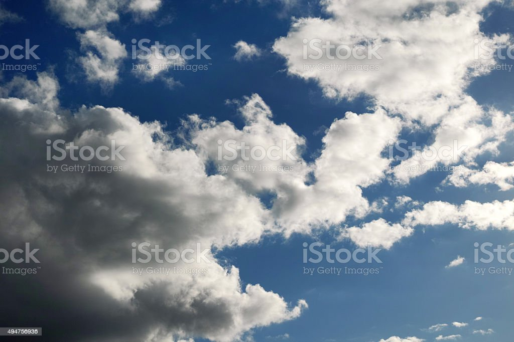 Awesome Sky View With Clouds And Sunlight stock photo