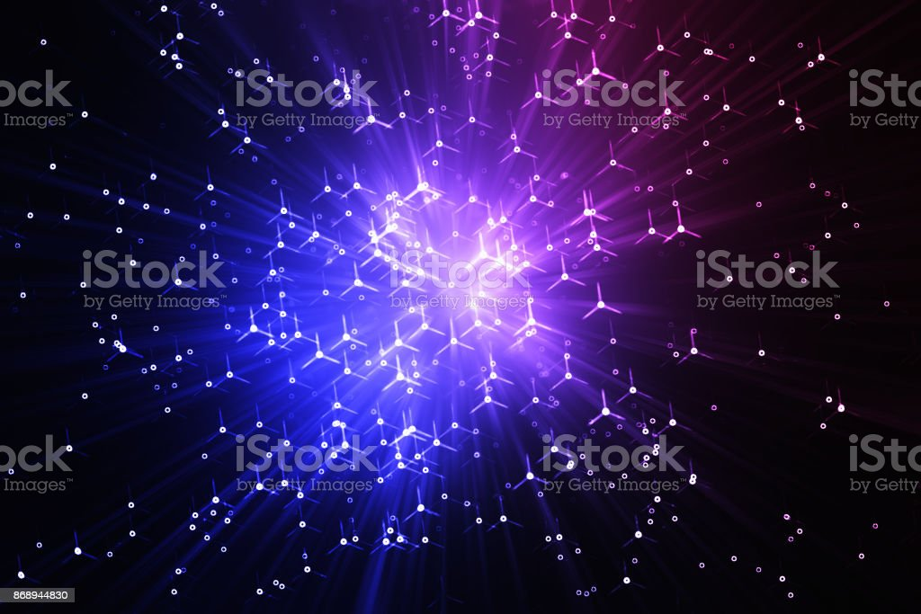 Awesome space teleportation blast background stock photo