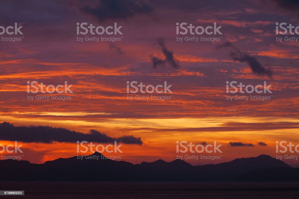 Awesome sunset royalty-free stock photo