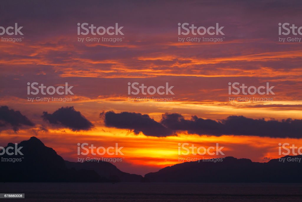 Awesome sunset royalty-free stock photo