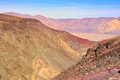 awesome view to the famous death valley in california, usa