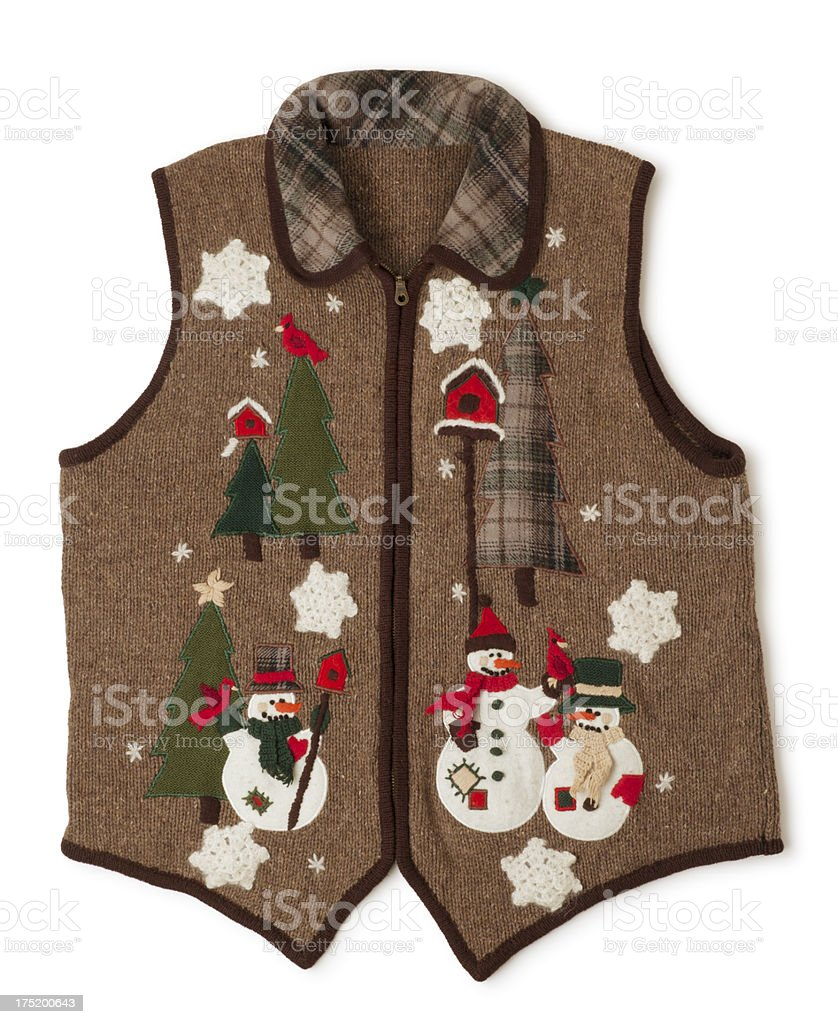 Awful Christmas Sweater Isolated on White royalty-free stock photo