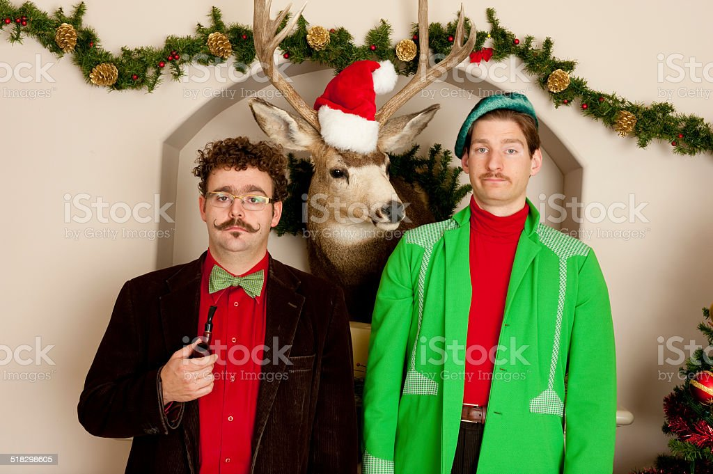 Awkward Christmas Party stock photo