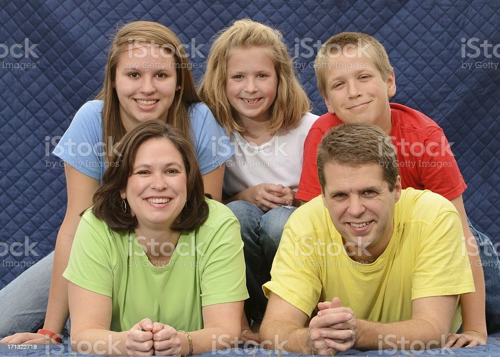 Awkward family photo stock photo