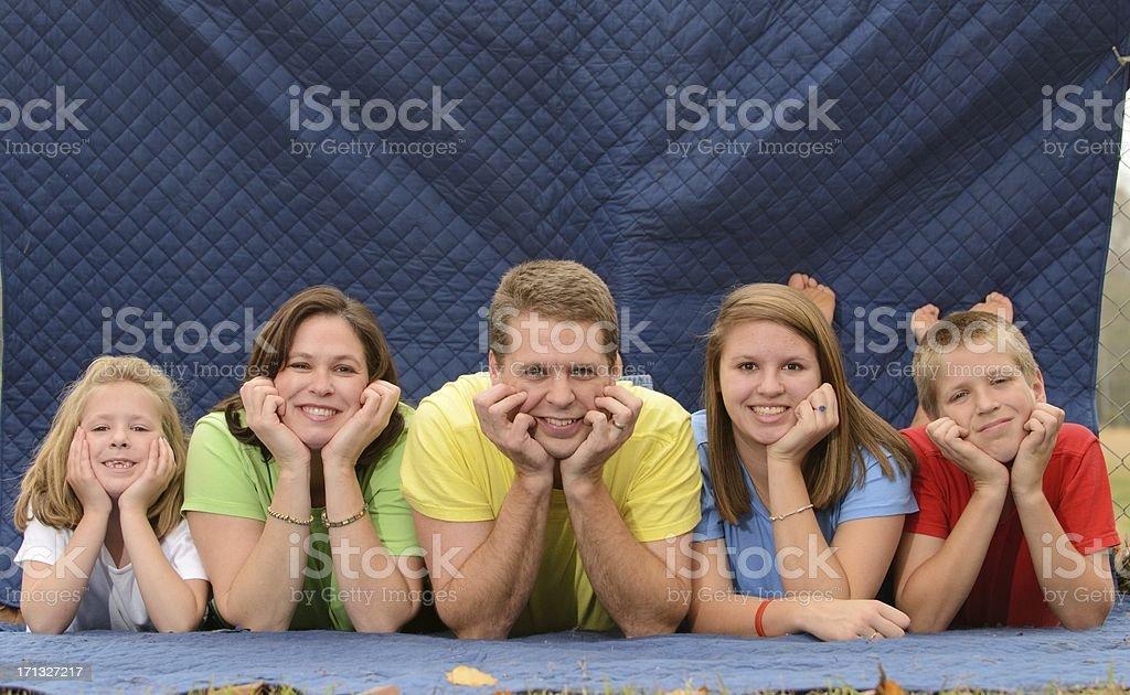 Awkward family photo royalty-free stock photo