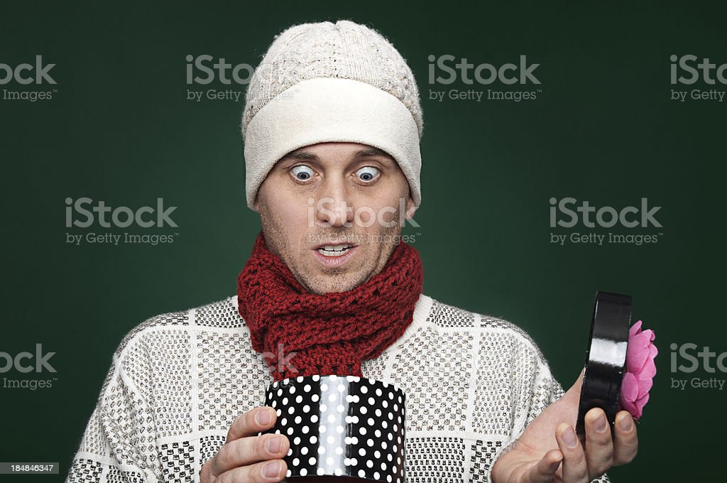 Awkward gift stock photo