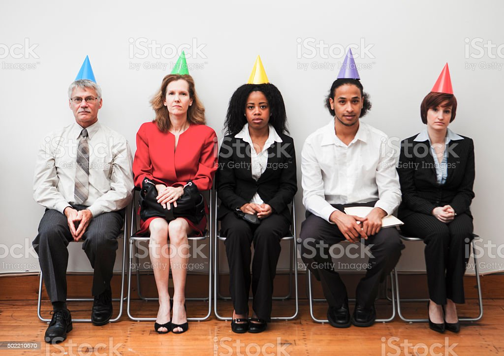 Awkward Office Party stock photo