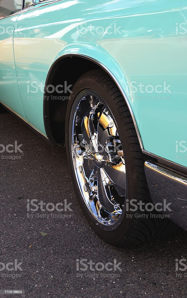 awsome rims and mirroring convertible royalty-free stock photo
