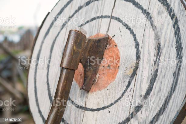 Photo of Ax in the target, entertainment throwing an ax