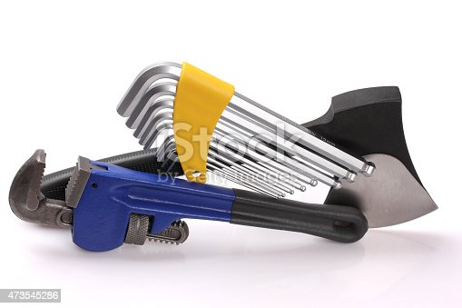 istock Ax, wrench, Allen wrench sizes 473545286
