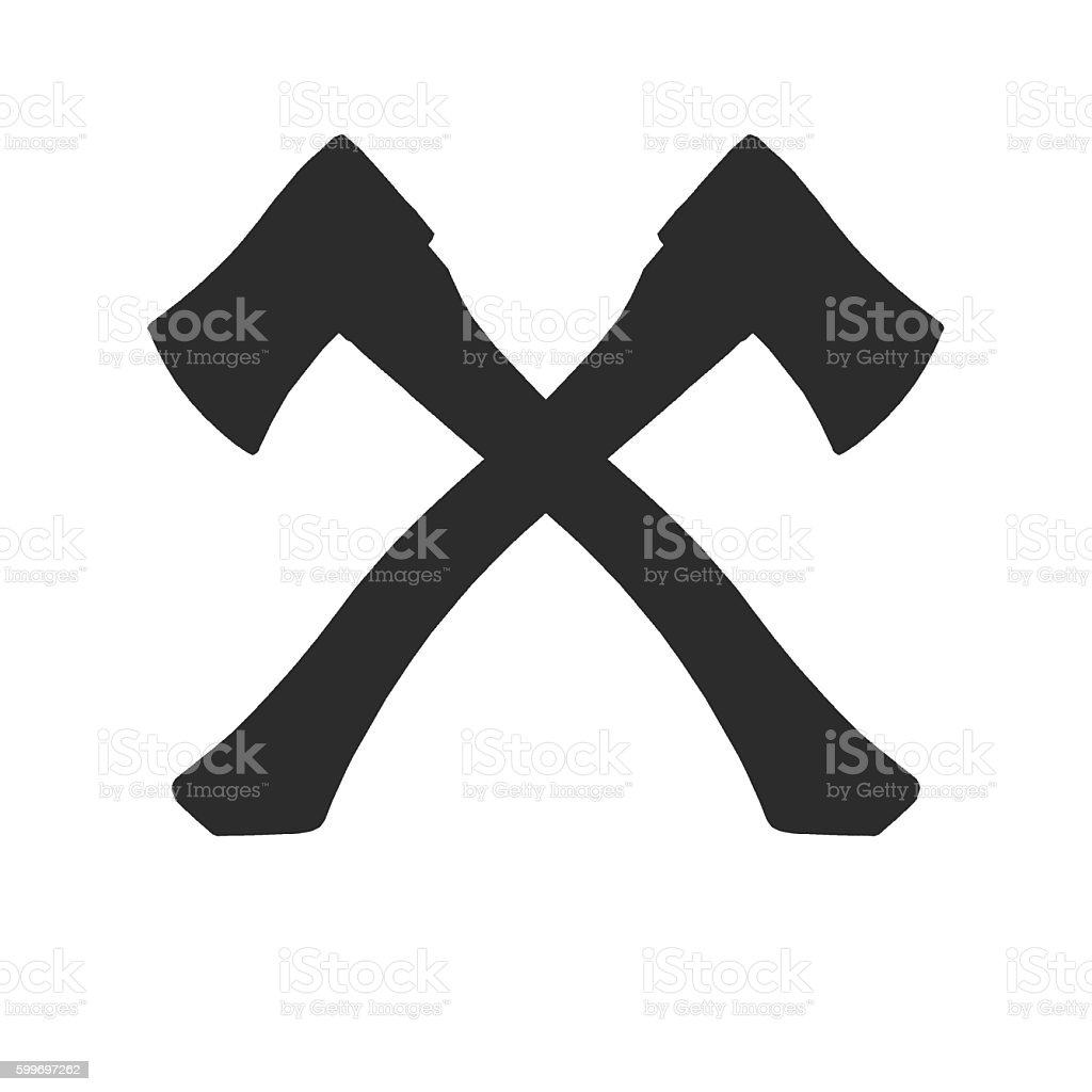 Axes Crossed stock photo